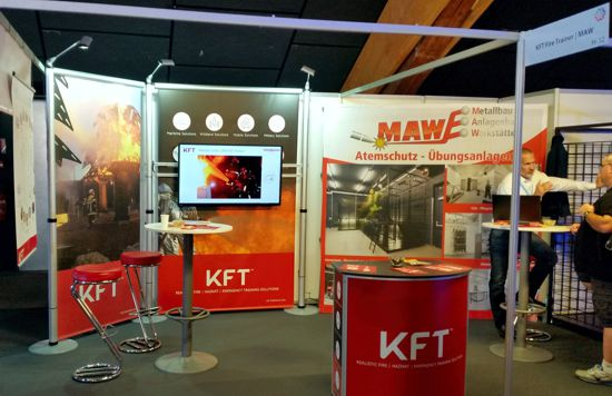 Booth at French Firefighter Congress