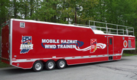 Portable fire & hazmat trainer