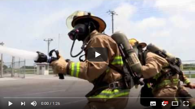 USAG Okiniwa trains with KFT fire training system